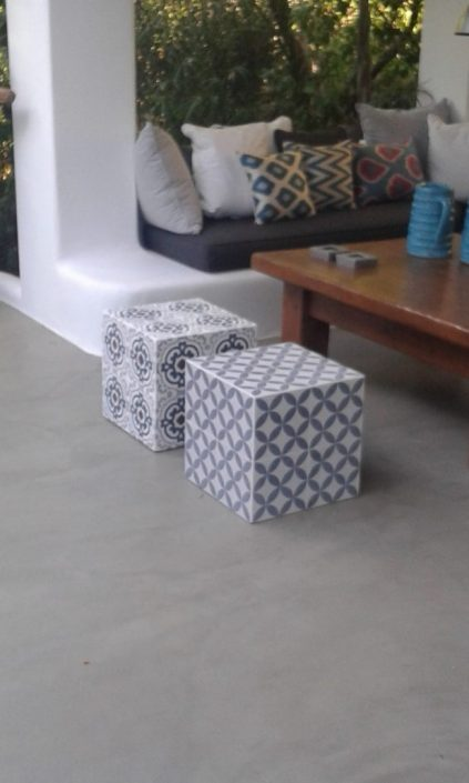DAMASK_cement tiles_Mykonos residence