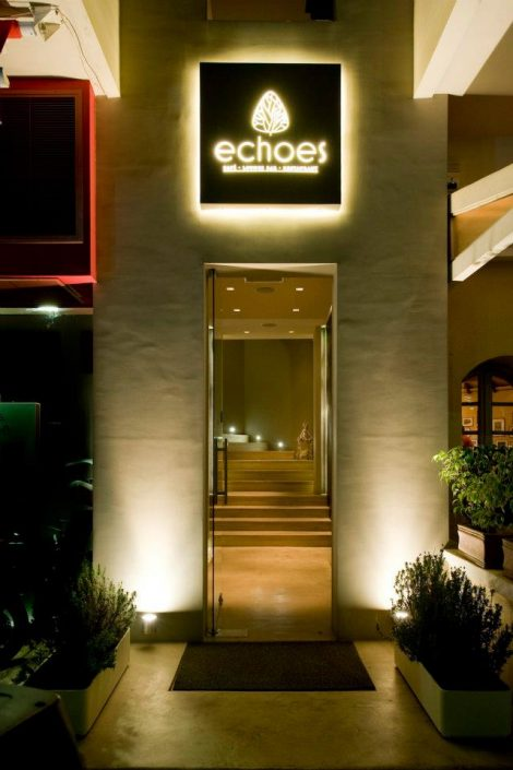 DAMASK projects and materials_echoes bar restaurant_Athens