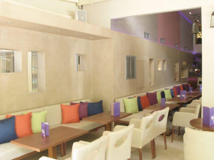 DAMASK_lime_plaster_hubble bubble cafe bar_Athens