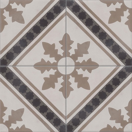 Beige Cement Tiles Damask
