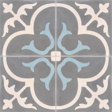 Grey Encaustic tiles Damask
