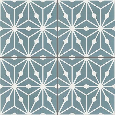 Blue Cement Tiles Damask