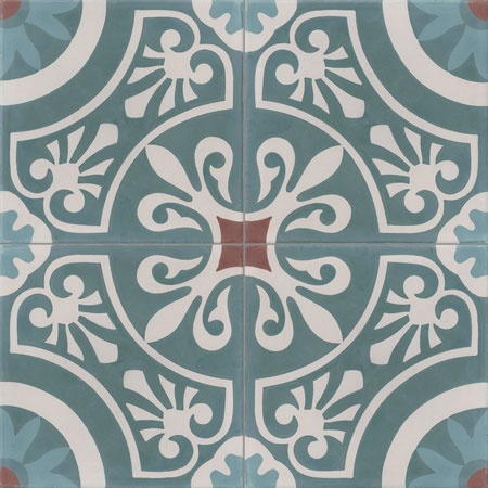 Traditional Cement Tiles Damask