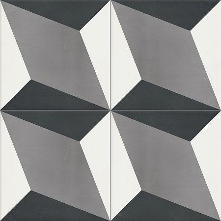 Grey Cement Tiles Damask