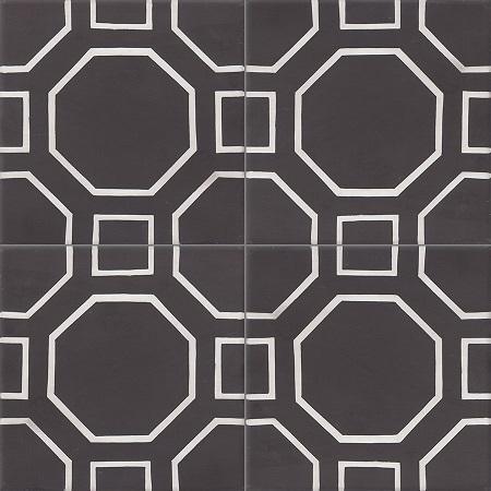 Black Modern Cement Tiles