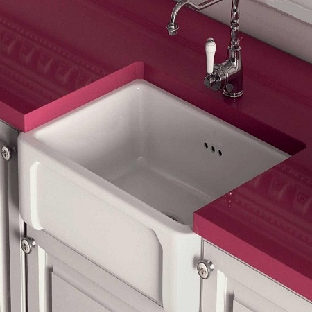 fireclay kitchen sink_Boulogne_Damask_2c