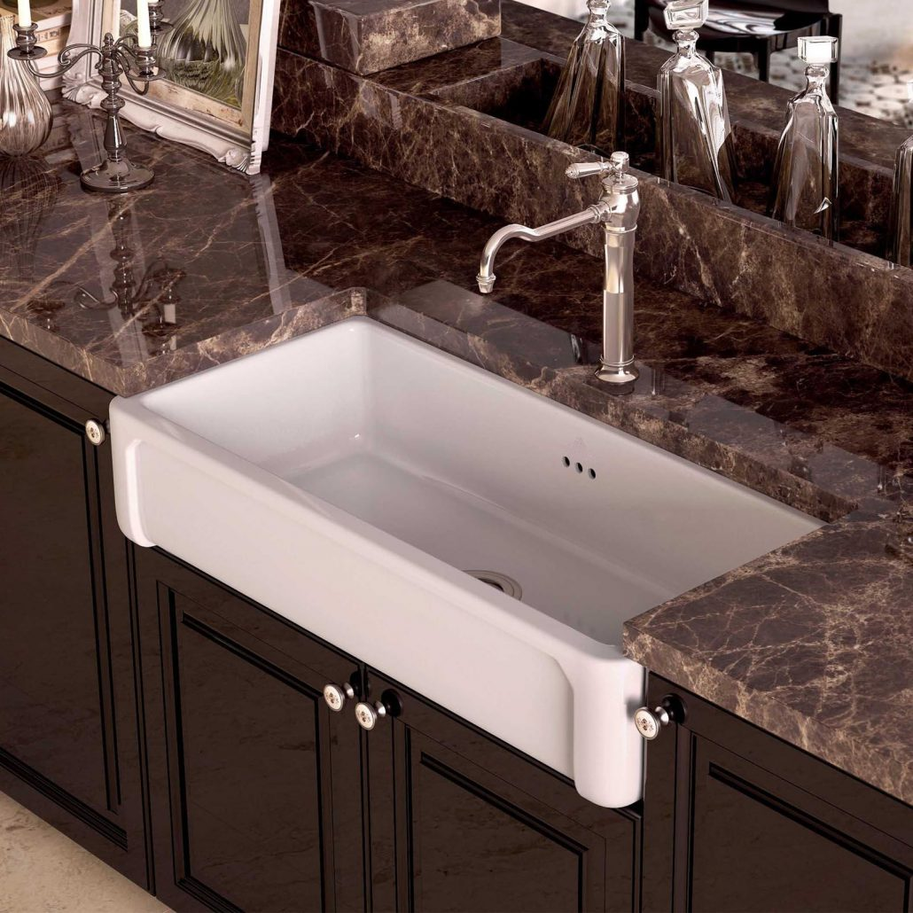 fireclay kitchen sink_Boulogne_Damask_2d