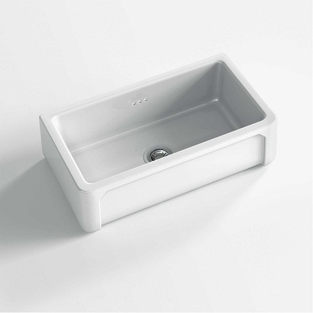 fireclay kitchen sink_Boulogne_Damask_2e