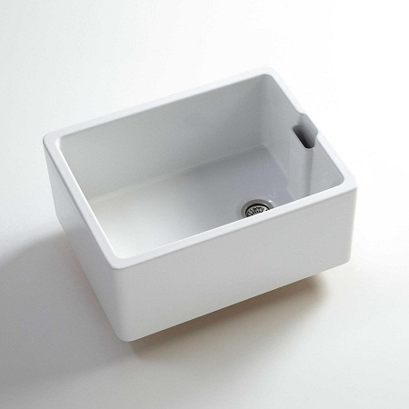 fireclay kitchen sink_Butler_Damask_6a