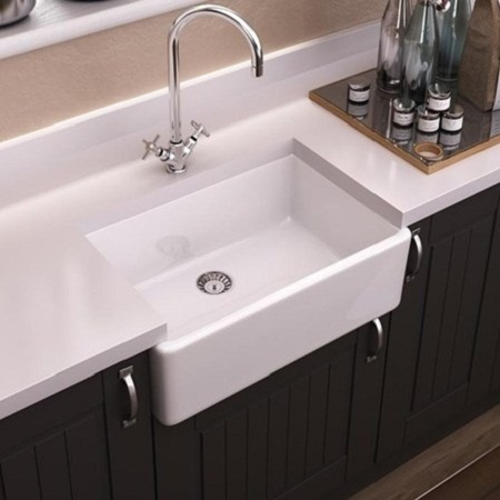 fireclay kitchen sink_Farmhouse_Damask_3d