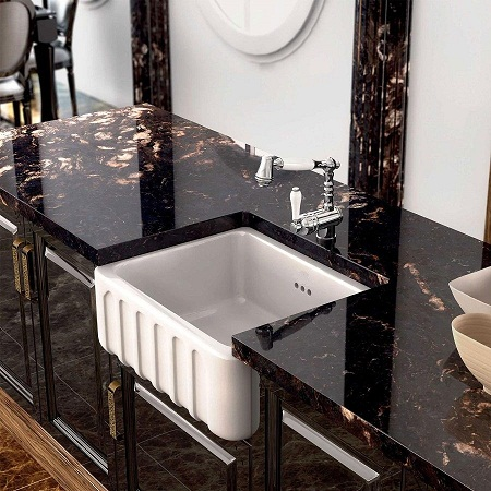 fireclay kitchen sinks_Trianon_Damask_1a