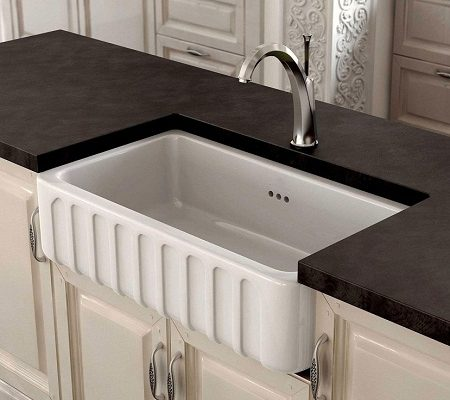 fireclay kitchen sinks_Trianon_Damask_1b