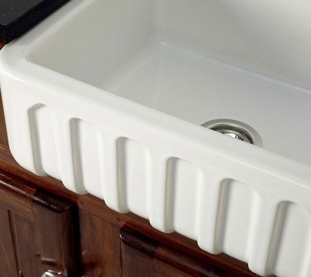 fireclay kitchen sinks_Trianon_Damask_1c