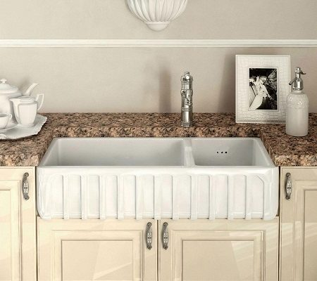 fireclay kitchen sinks_Trianon_Damask_1e