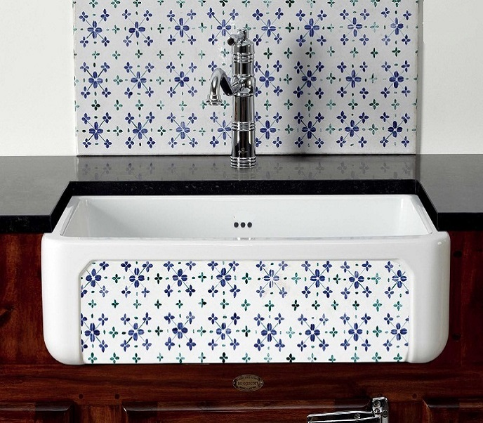 fireclay sink_Damask_10a