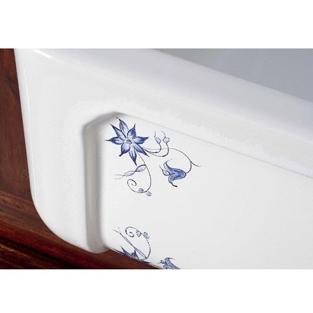 fireclay sink_Delft_Damask_9_detail
