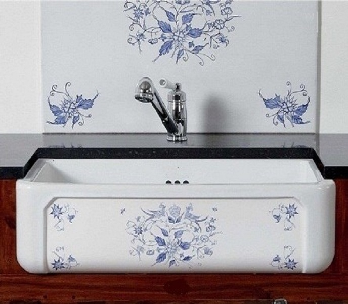 fireclay sink_Delft_Damask_9i