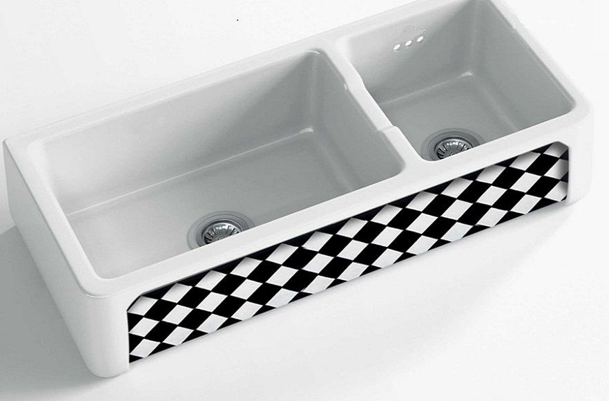 fireclay sink_b & w_Damask_11_double