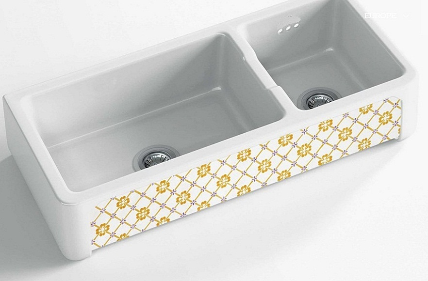 fireclay sinks_Country_Damask_12_double