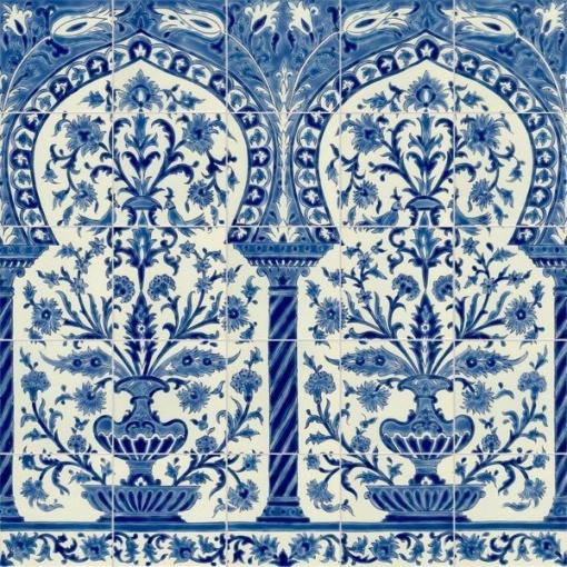 oriental tiles_murals_Damask_17a