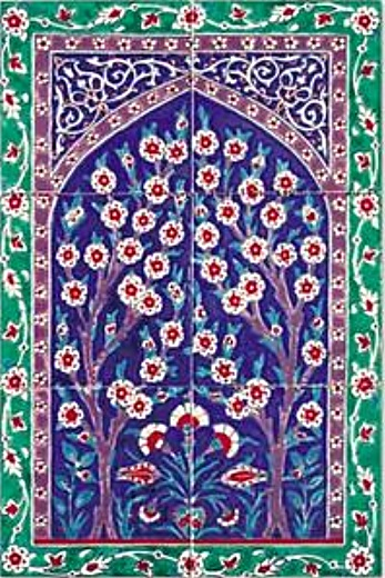 oriental tiles_murals_Damask_3a