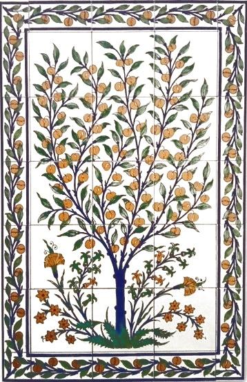 oriental tiles_murals_Damask_4a