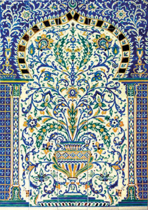oriental tiles_murals_Damask_5