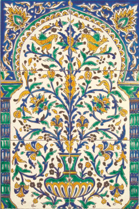 oriental tiles_murals_Damask_7