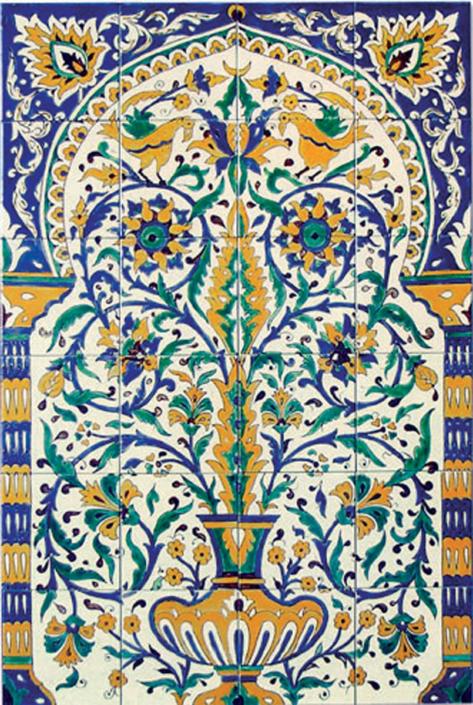 oriental tiles_murals_Damask_8