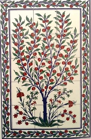 oriental tiles_murals_Damask_9