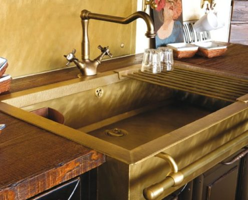 metal kitchen sink_Damask_burnished brass_2