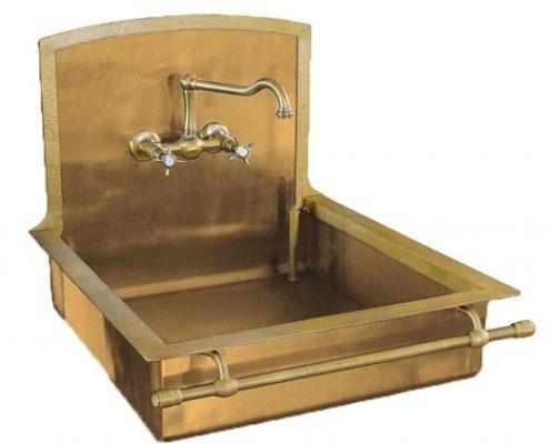 metal kitchen sink_Damask_burnished brass_4
