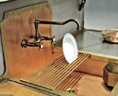metal kitchen sink_Damask_copper_3