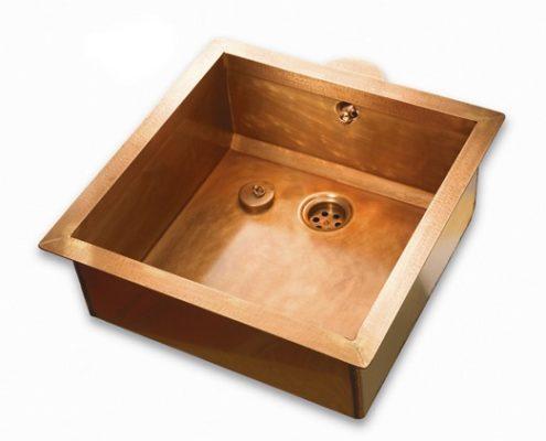 metal kitchen sink_Damask_copper_8
