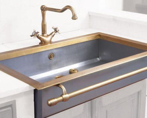metal kitchen sink_Damask_stainless steel_1