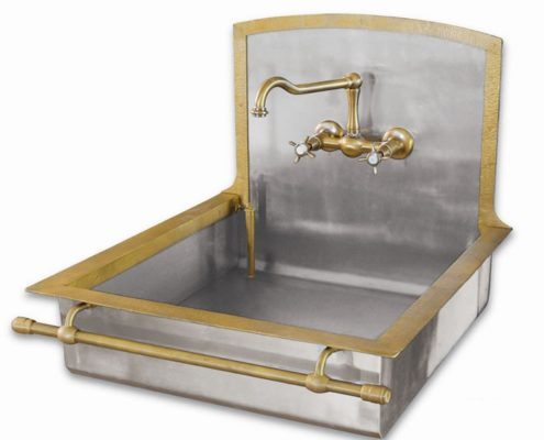 metal kitchen sink_Damask_stainless steel_4_