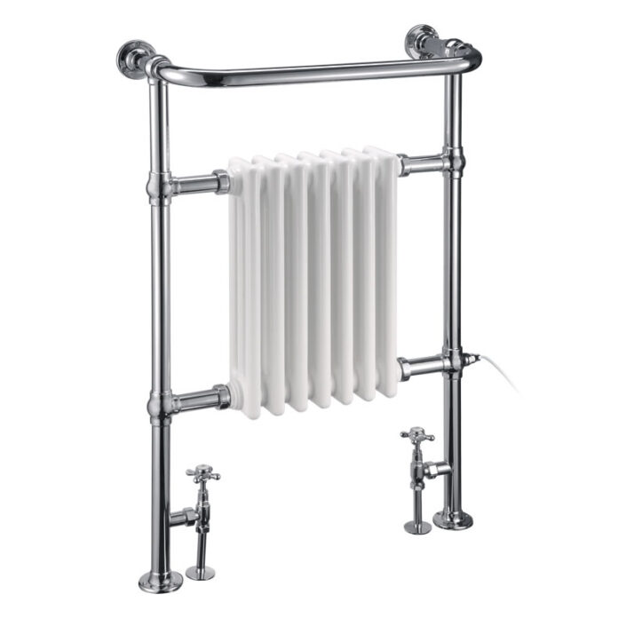 Towel warmer_1_WHITE AND CHROME_Damask