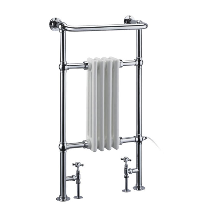 Towel warmer_3_WHITE AND CHROME_Damask