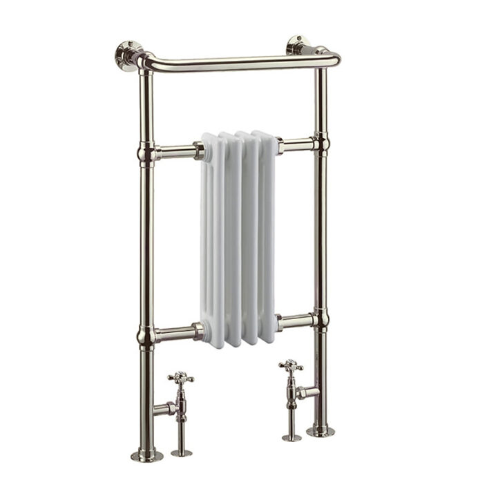 Towel warmer_3_WHITE AND NICKEL_Damask