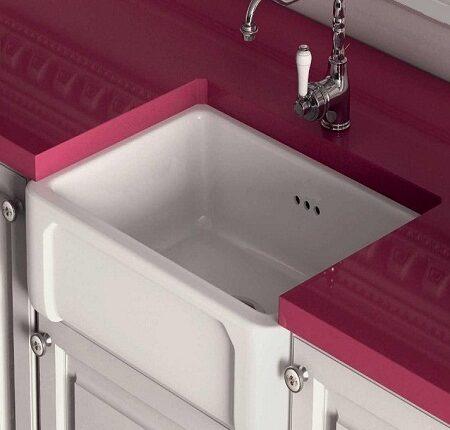 fireclay kitchen sink_Boulogne_Damask_2c