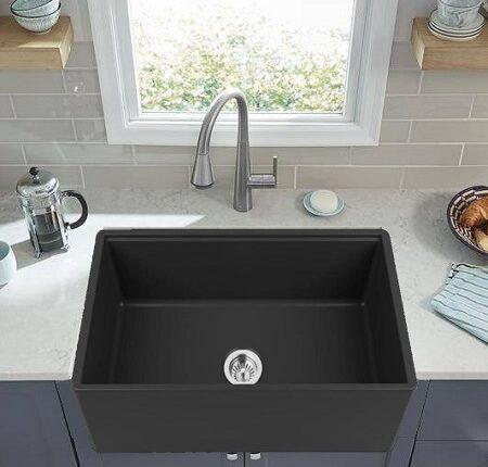 Fireclay kitchen sink_Bagatelle Noire_Damask_fp