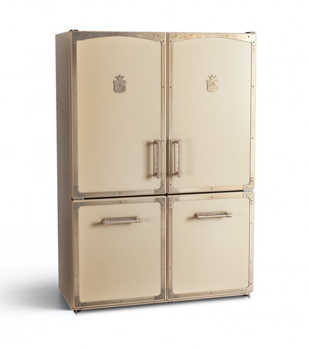 double handmade metal fridge-freezer_Damask_α