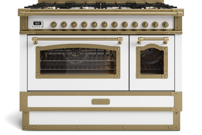 metal handmade kitchen_antic white_120cm_TYPE A_Damask