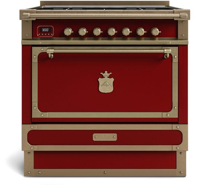 metal handmade kitchen_burgundi red_90cm_TYPE B_Damask