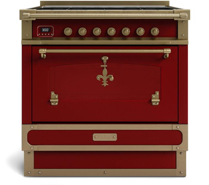 metal handmade kitchen_burgundi red_90cm_TYPE C_Damask