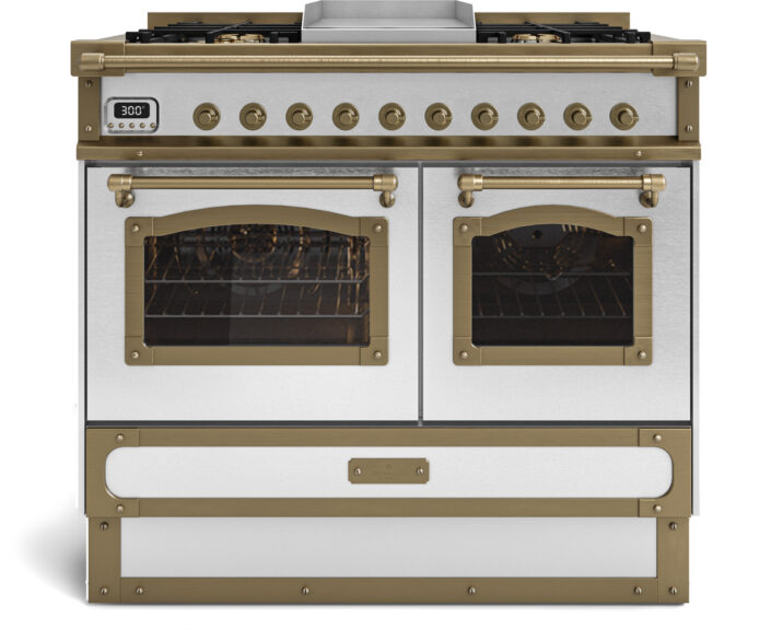 metal handmade kitchen_stainless steel_white_100cm_TYPE A_Damask